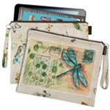 iPad, Kindle, Gadget, Magazine, padded protective loop pouch bag, travel, holiday, pool bag, purse