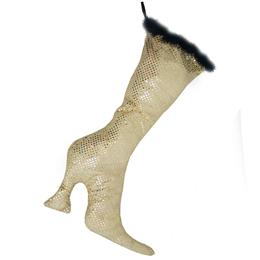 Twinkle Gold Christmas Stocking