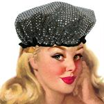 Twinkle Silver/Black Shower Cap