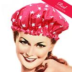 Stars Cerise Shower Cap