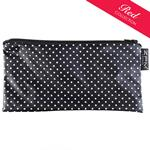 Pin Dot Black Cosmetics Purse/Pencil Case