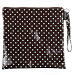 Mini Dot Turq/Choc Loop Handle Purse