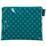 Teal Ta-Dot Handy Zip Purse