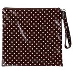 Mini Dot Pink/Choc Loop Handle Purse