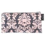 Damask Pink/Grey Cosmetic Purse/ Pencil Case