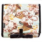 Bird & Flower Blue Hanging Washbag/Toiletry Bag