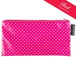 Pin Dot Pink Cosmetics Purse/Pencil Case