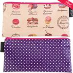 Cakes/Purple with white spots Cosmetics Purse/Pencil Case