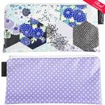 Kimono Patch Blue/Lilac with white spots Cosmetics Purse/Pencil Case
