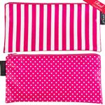 Hat Box Pink/Pink with white spots Cosmetics Purse/Pencil Case