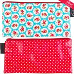 Katie Flower/Red with white spots Cosmetics Purse/Pencil Case