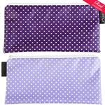 Pin Dot Purple/Lilac with white spots Cosmetics Purse/Pencil Case