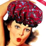 Paisley Red Shower Cap