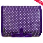 Pin Dot Purple Hanging Washbag/Toiletry Bag
