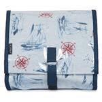 Yacht and compass  (blue) Hanging Washbag/Toiletry Bag