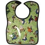 Alice Allover Green Baby Bib