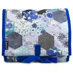 Kimono Patch Blue Hanging Washbag/Toiletry Bag