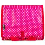 Pin Dot Pink Hanging Washbag/Toiletry Bag