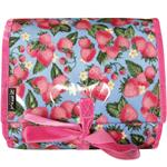 Strawberries Blue Hanging Washbag/Toiletry Bag