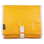 Pin Dot Yellow Hanging Washbag/Toiletry Bag