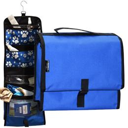 Pet Travel Bag - Blue with Paw Prints