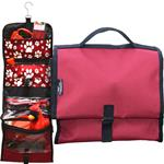 Pet Travel Bag - Red with Paw print