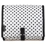 Mini Dot Black White Hanging Washbag/Toiletry Bag