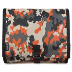 Camoflage Olive/Orange Hanging Washbag/Toiletry Bag