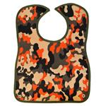 Camoflage Olive/Orange Baby Bib