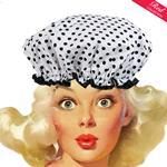 Mini Dot Black White Shower Cap