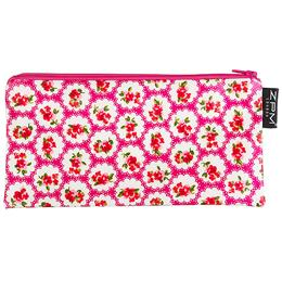Katie Flower Cerise/ Pink with white spots Cosmetics Purse/Pencil Case