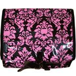 Damask Pink/Chocolate Hanging Washbag/Toiletry Bag