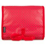 Pin Dot Bright Red Hanging Washbag/Toiletry Bag