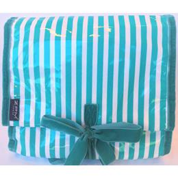 f47379b61da1 ZPM Hatbox Mint and White Hanging Washbag Toiletry Bag