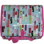 Lipsticks Mint Aqua Hanging Washbag/Toiletry Bag